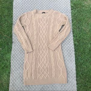 MODA INT CABLE KNIT SWEATER DRESS